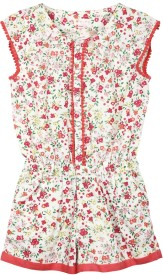 My Lil' Berry Printed Girl's Jumpsuit