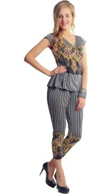 Glam & Luxe Striped, Printed Women's Jumpsuit
