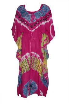 Indiatrendzs Embroidered Rayon Women's Kaftan