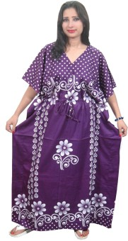 Indiatrendzs Printed, Polka Print Cotton Women's Kaftan