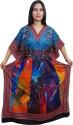Indiatrendzs Printed Polyester Crepe Women's Kaftan