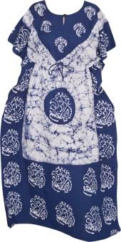 Indiatrendzs Printed Cotton Women's Kaftan