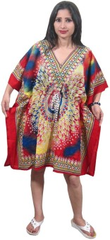 Indiatrendzs Printed Poly Cotton Women's Kaftan