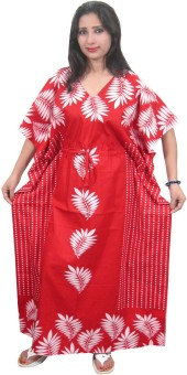 Indiatrendzs Printed, Polka Print Cotton Women's Kaftan