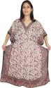 Indiatrendzs Paisley Polyester Crepe Women's Kaftan