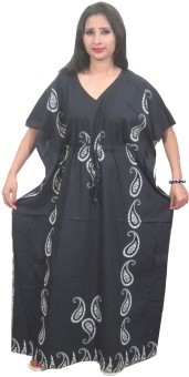 Indiatrendzs Paisley Cotton Women's Kaftan