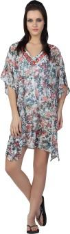 Liwa Floral Print 100% Polyester Women's Kaftan