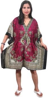 Indiatrendzs Printed Polyester Women's Kaftan