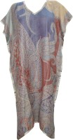 Indiatrendzs Printed Wool Women's Kaftan