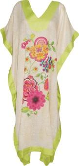Indiatrendzs Floral Print Cotton Women's Kaftan