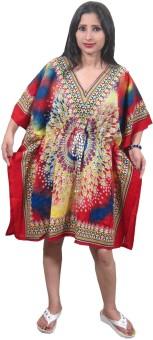 Indiatrendzs Printed Crepe Women's Kaftan