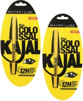 Maybelline Colossal Kajal (pack Of 2 ) 0.70 G (Black)