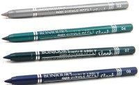 Bonjour Paris Single Apply Water Proof Silver-Glazed Green-Green-Party Blue Kajal 4.8 G (Silver, Glazed Green, Green, Party Blue)