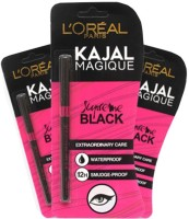 L'oreal Loreal Paris Magique Kajal (Pack Of 3) .35 G (black)