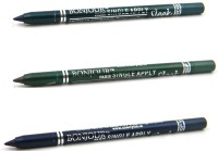 Bonjour Paris Single Apply 1507201648 Green-Leaf Green-Navy Blue Kajal 3.6 G (Green, Leaf Green, Navy Blue)