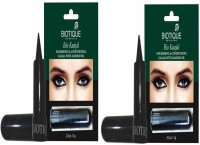 Biotique Bio Kajal Nourishing And Conditioning With Almond Oil, Pack Of 2 6 G (Black)