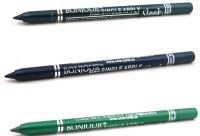 Bonjour Paris Single Apply 08072016173 Green-Navy Blue-Green Kajal 3.6 G (Green, Navy Blue, Green)