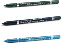 Bonjour Paris Single Apply 1507201662 Leaf Green-Navy Blue-Sky Blue Kajal 3.6 G (Leaf Green, Navy Blue, Sky Blue)
