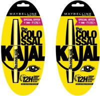 Maybelline Maybelline Collosal Black Kajal (Pack Of 2) .35 G (Black)