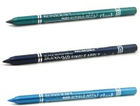 Bonjour Paris Single Apply 1507201636 Glazed Green-Navy Blue-Sky Blue Kajal 3.6 G (Glazed Green, Navy Blue, Sky Blue)