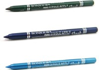 Bonjour Paris Single Apply 1507201664 Leaf Green-Party Blue-Sky Blue Kajal 3.6 G (Leaf Green, Party Blue, Sky Blue)