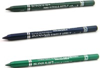 Bonjour Paris Single Apply 08072016188 Green-Navy Blue-Green Kajal 3.6 G (Green, Navy Blue, Green)