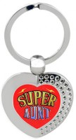 SKY TRENDS Super Aunt Heart Metal Key Chain