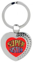 SKY TRENDS Super Sister Heart Metal Key Chain