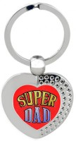 SKY TRENDS Super Dad Heart Metal Key Chain