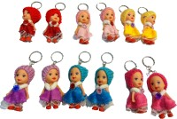 Unique Toys Pretty Doll Key Chain Pack Of 12 Key Chain