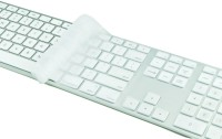 Saco Full Size CLEAR Cover Silicone For Apple IMac G6 Desktop PC Desktop Keyboard Skin (Transparent)