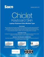 Saco Chiclet For Dell Inspiron 15 3521-TS Laptop Keyboard Skin (Transparent)