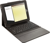 Microware Black Leather Casing with Bluetooth Wireless Standard Keyboard