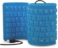 Dragon Foldable Wired USB Flexible Keyboard (Blue)