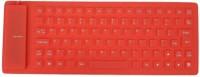 Shrih SH-0192 Wired USB Flexible Keyboard (Red)
