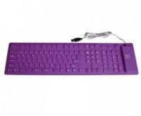 Dragon Flexi 01P Wired USB Flexible Keyboard (Purple)