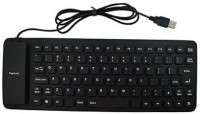 NHA FOLDABLE Wired USB Flexible Keyboard (Black)