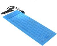 Finger'S Blue Wired USB Flexible Keyboard (Blue)