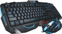 Marvo Scorpion Black Light Wired Gaming Keyboard And Mouse Combo USB  Keyboard (Black)