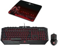CIRCLE Saberon_X1 Wired USB Keyboard & Mouse Combo (Black)