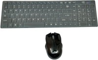 Adnet Wireless Multimedia 2.4 GHz Wireless Keyboard & Mouse Combo (Black, White)