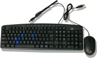 Beekonnect ECO Wired USB Keyboard & Mouse Combo (Black)