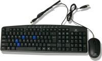 Beekonnect ECO Wired USB Keyboard & Mouse Combo (Black)