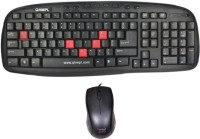 Tele Queen QHM8899 Wired USB Keyboard & Mouse Combo (Black)