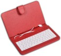 DGB 7inch Micro USB Tablet Keyboard With Case - Red