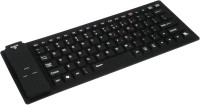 Outre Portable Flexible Silicone Foldable Waterproof Wireless Bluetooth Tablet Keyboard (Black)