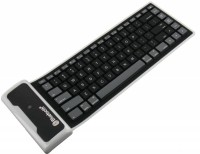 NHA Flexible Rubber Silicon Bluetooth Tablet Keyboard (Black)