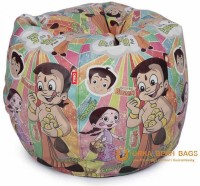 ORKA Chhota Bheem Series Leatherette S Teardrop Kid Bean Bag (Bead Filling, Color - Multicolor)