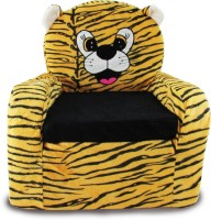 Tabby Toys Animal Theme Tiger Kids Sofa Foam Sofa (Finish Color - Orange)
