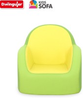Dwinguler Kids Sofa - Lime Green Leatherette Sofa (Finish Color - Lime Green)